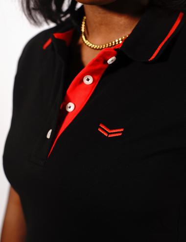 Schwarzes Damen-Poloshirt