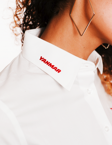 White embroidered shirt -...
