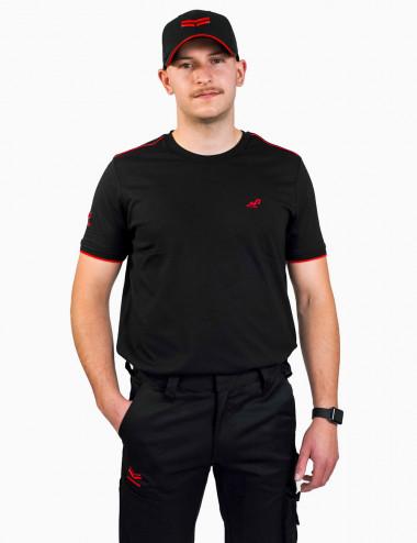 Tshirt Noir, manches...