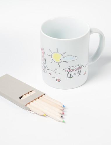 Mug to color for kids