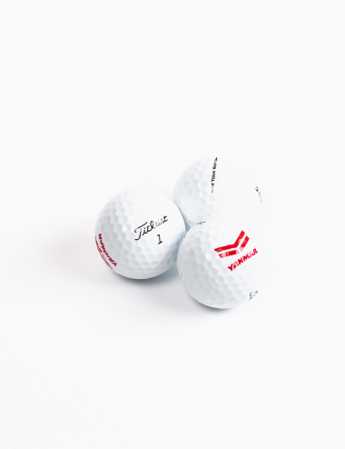 Trio of golf balls